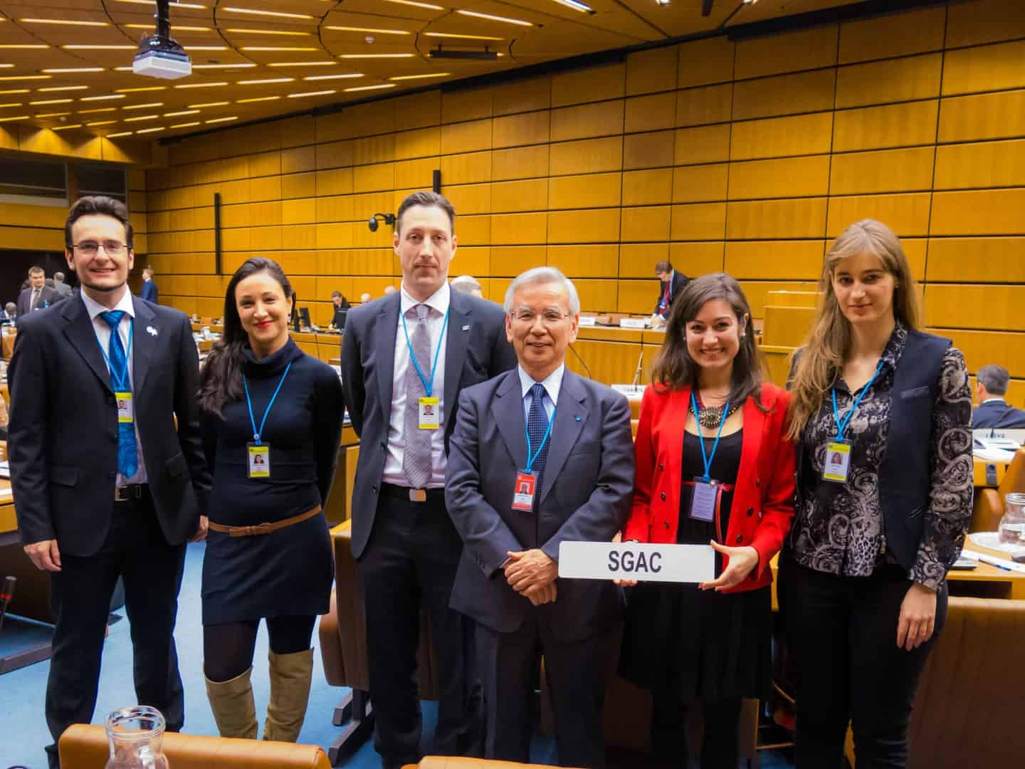 SGAC members representing the organisation at the United Nations