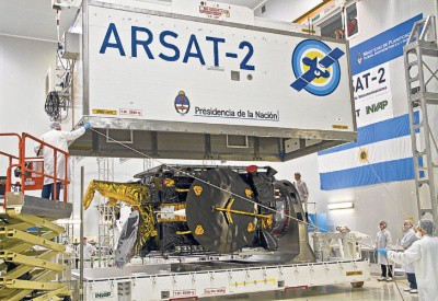 Satellite ARSAT-2 before its launch