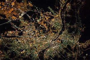 Cairo (Capital of Egypt) at night. Credit: NASA/JSC, ISS