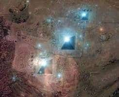 Egyptian Pyramids from space