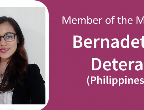 January 2019: Bernadette Detera (Philippines) and Faith Tng (Singapore)