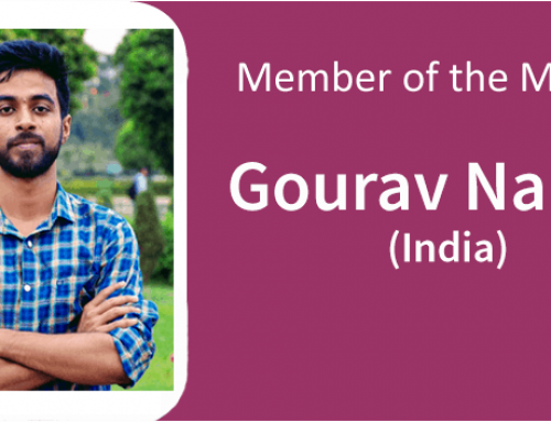 Member of the Month for June 2019: Gourav Namta