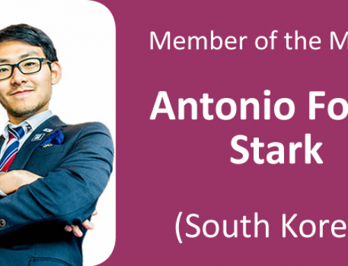 Member of the Month for October 2019: Antonio Fowl Stark