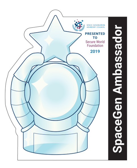 The Secure World Foundation is the first recipient of the SGAC SpaceGen Ambassador Award