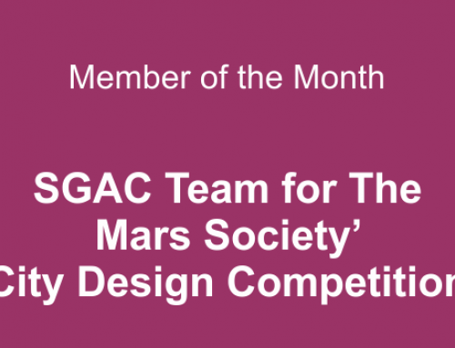 Member of the month for November 2020: SGAC Team for The Mars Society' City Design Competition